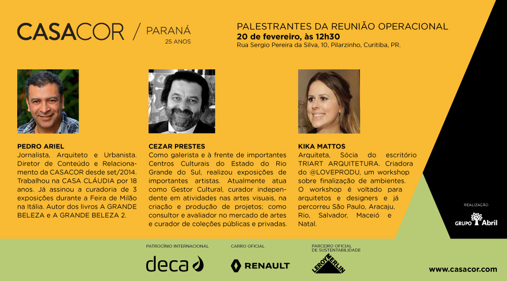 2927ec7a0 CASACOR Paraná celebra o início das atividades em 2018