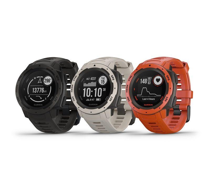 453a7ba1eb7 Garmin® InstinctTM  um smartwatch robusto com GPS projetado para uso  multiesporte