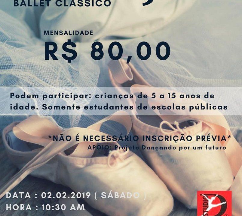 3f04e8dcf Studio D1 oferece bolsas de ballet clássico para alunos de escolas públicas