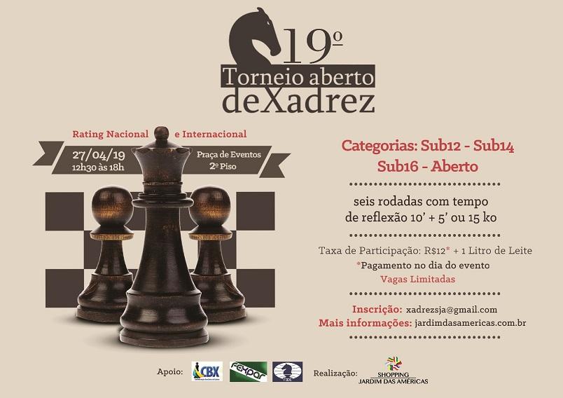 baa0e29c9 19º Torneio Aberto de Xadrez no Shopping Jardim das Américas